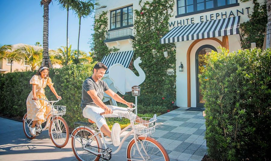 Biking in Palm Beach